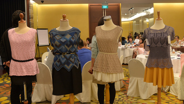 Knitwear designs from Hamanka for the second day