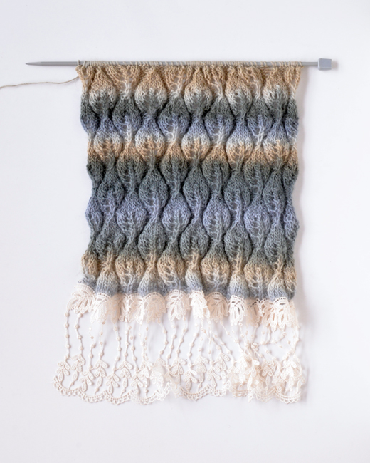 Grey and Beige Scarf
